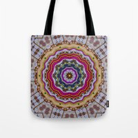 woodstock Tote Bags featuring Woodstock Pattern kinda by Pepita Selles