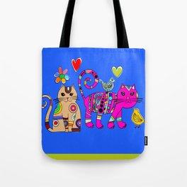 Kitties and birds Tote Bag