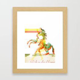 Ride a dead horse Framed Art Print
