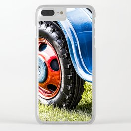 wheel of old tractor Clear iPhone Case
