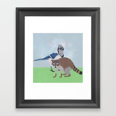 Mordecai and Rigby Framed Art Print