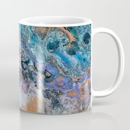 Molten Time (flow art on canvas) Coffee Mug