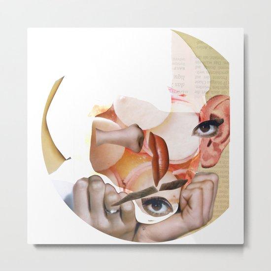 Audrey Meat 3 · Crop Circle Metal Print