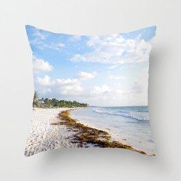 carribbean beach. Throw Pillow