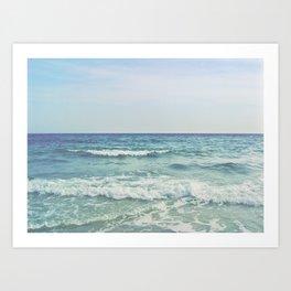 Ocean Crashing Waves Art Print
