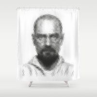 walter white Shower Curtains featuring Walter White by Francesco Petracca