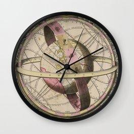 Van Loon - The Earth and Surrounding Heavens, 1708 Wall Clock