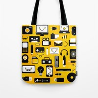 technology Tote Bags featuring Technology  by adrianperive