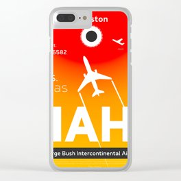 Houston Texas airport code Clear iPhone Case