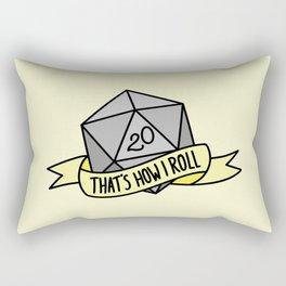 That's How I Roll D20 Rectangular Pillow