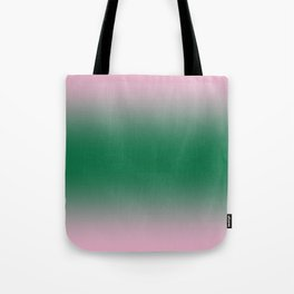 Cotton Candy Pink to Cadmium Green Bilinear Gradient Tote Bag