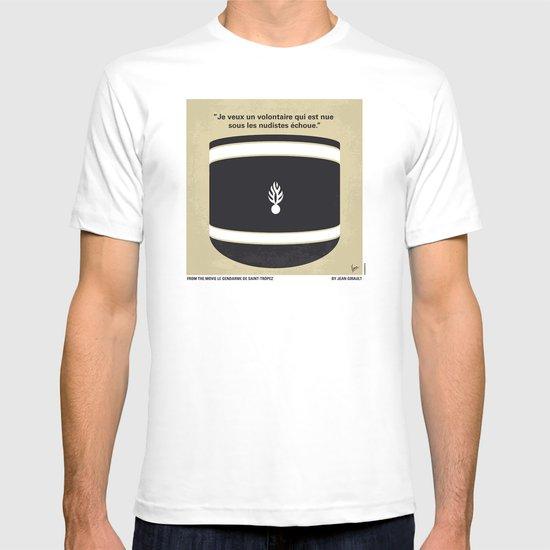 No186 My Le Gendarme de Saint-Tropez minimal movie poster T-shirt