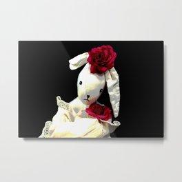 Romantic Bunny Metal Print