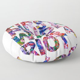 The First Pride Was A Riot Gay Pride LBGTQ Rainbow Floor Pillow