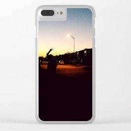 Susan Vibes Clear iPhone Case