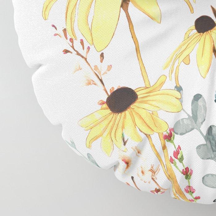 Summer Flowers Floor Pillow