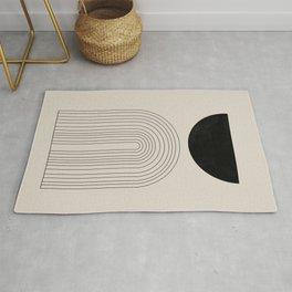 Arch, geometric modern art Rug