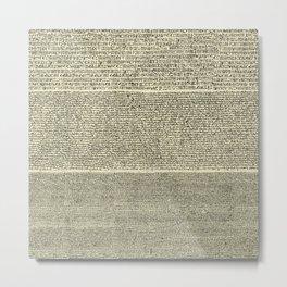 The Rosetta Stone // Parchment Metal Print