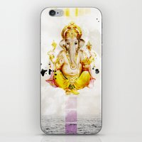ganesha iPhone & iPod Skins featuring Ganesha by O. Be