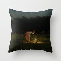 fairy tale Throw Pillows featuring Fairy Tale by KellyLynne on the Coast