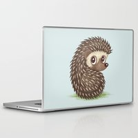 hedgehog Laptop & iPad Skins featuring Hedgehog by Toru Sanogawa