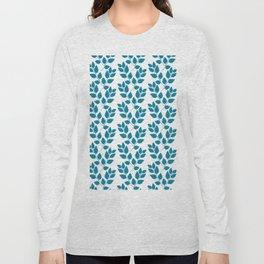turquoise tree twig pattern Long Sleeve T-shirt