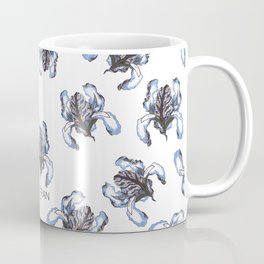 T.F TRAN BLUE SNAKE IRIS Coffee Mug