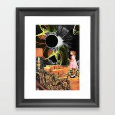 Inter-Dimensional Phone Line Framed Art Print