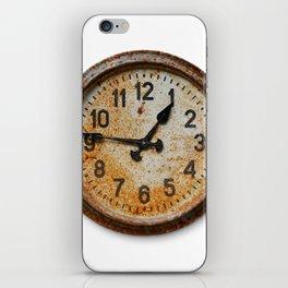 Old wall clock iPhone Skin