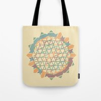 fractal Tote Bags featuring Fractal by Zach Terrell