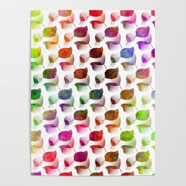 Colorful Leaves Cascade Poster