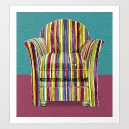 Last Chair Before Niagara Falls. Art Print
