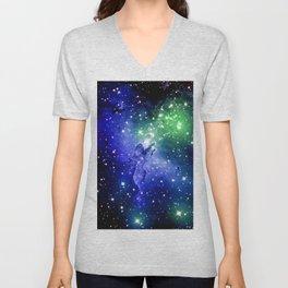 Eagle Nebula Blue Green Unisex V-Neck