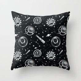 Steampunk Theme Throw Pillow