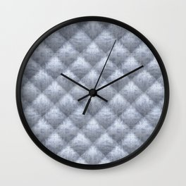 Quilted Soft Blue Velvety Pattern Wall Clock
