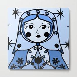 Matryoshka russian doll colorful illustration wall decor - Marina Metal Print