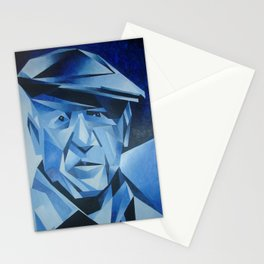 Cubist Portrait of Pablo Picasso: The Blue Period  Stationery Cards