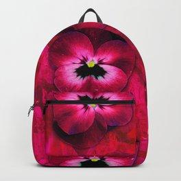 Deep Red Velvet Backpack