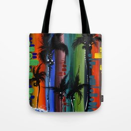 """COLOR IN PARADISE""  Tote Bag"