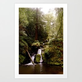 Cataract Creek Falls Upright Art Print