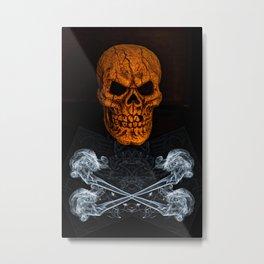 Skull And Crossbones 2 Metal Print