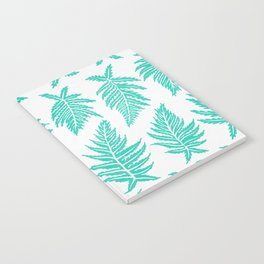 Inked Ferns – Turquoise Palette Notebook