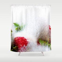Strawberries in Focus Shower Curtain