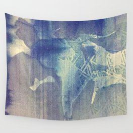 Abstraction in Blue Wall Tapestry