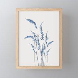 Blue flowers 2 Framed Mini Art Print