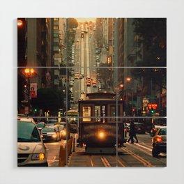 Cable car - San Francisco, CA Wood Wall Art