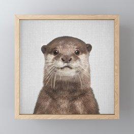 Otter - Colorful Framed Mini Art Print