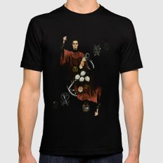 King of Scissors Black SMALL Mens Fitted Tee