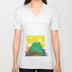 Shapes of Rio. Accurate to scale Unisex V-Neck