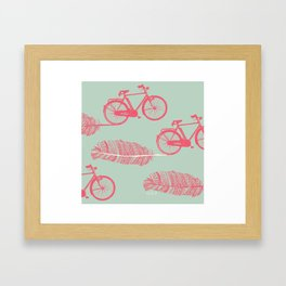 Feather Bike Framed Art Print